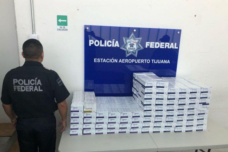 Policía Federal asegura anfetaminas en Aeropuerto de Tijuana