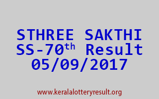 STHREE SAKTHI Lottery SS 70 Results 5-9-2017