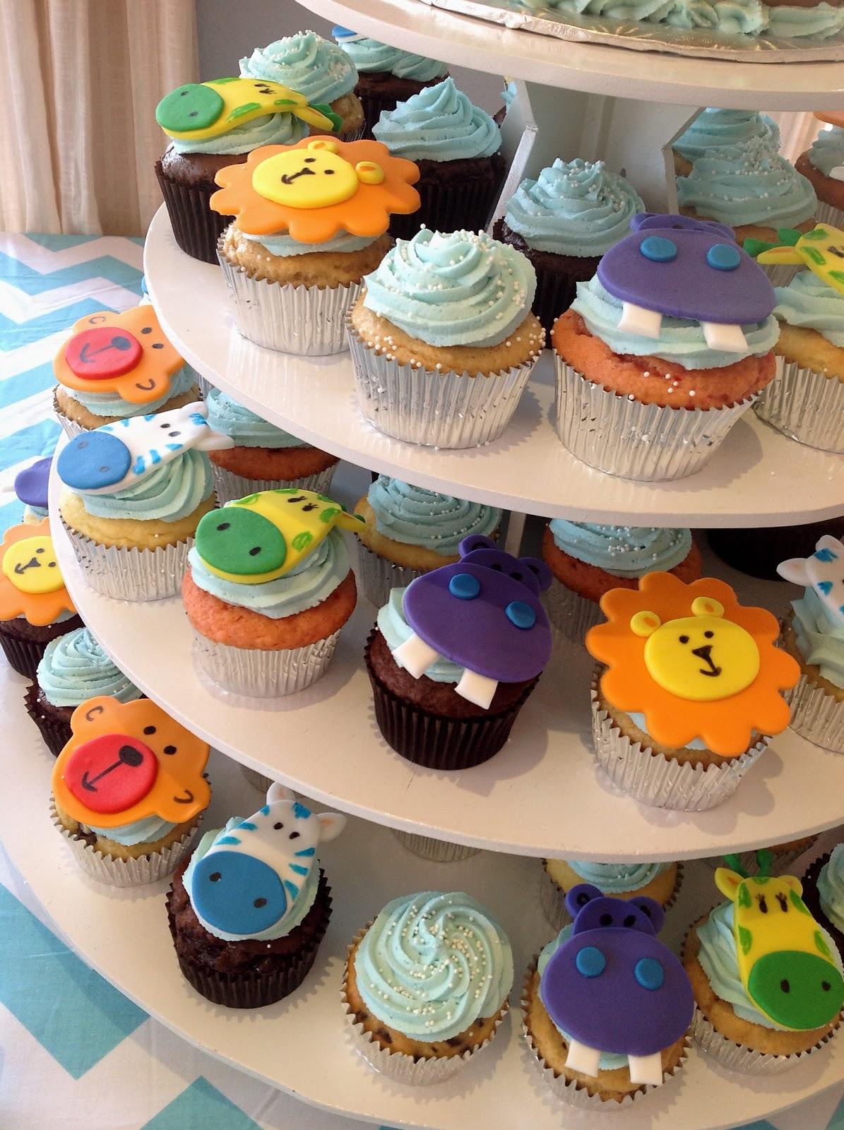 Plumeria Cake Studio Noah S Ark Baby Shower Cake Amp Cupcakes