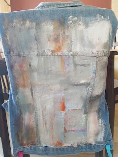 Heidididit - farkkutakin maalaaminen. Vaatetuunaus.