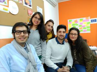 """Teresa junto a otros miembros de la asociación """"Aire Nuevo Caló"""""""