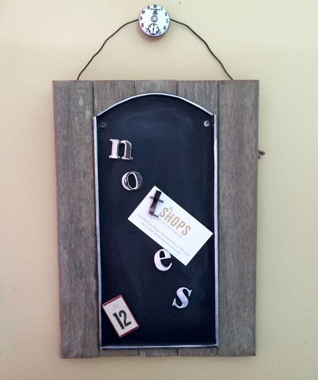 Easy Rustic Magnetic Chalkboards