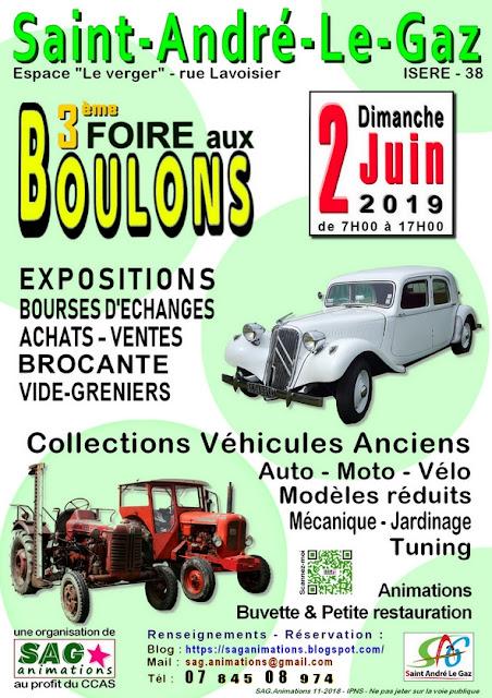 Foire aux Boulons le 02-06-2019 à Saint André Le Gaz
