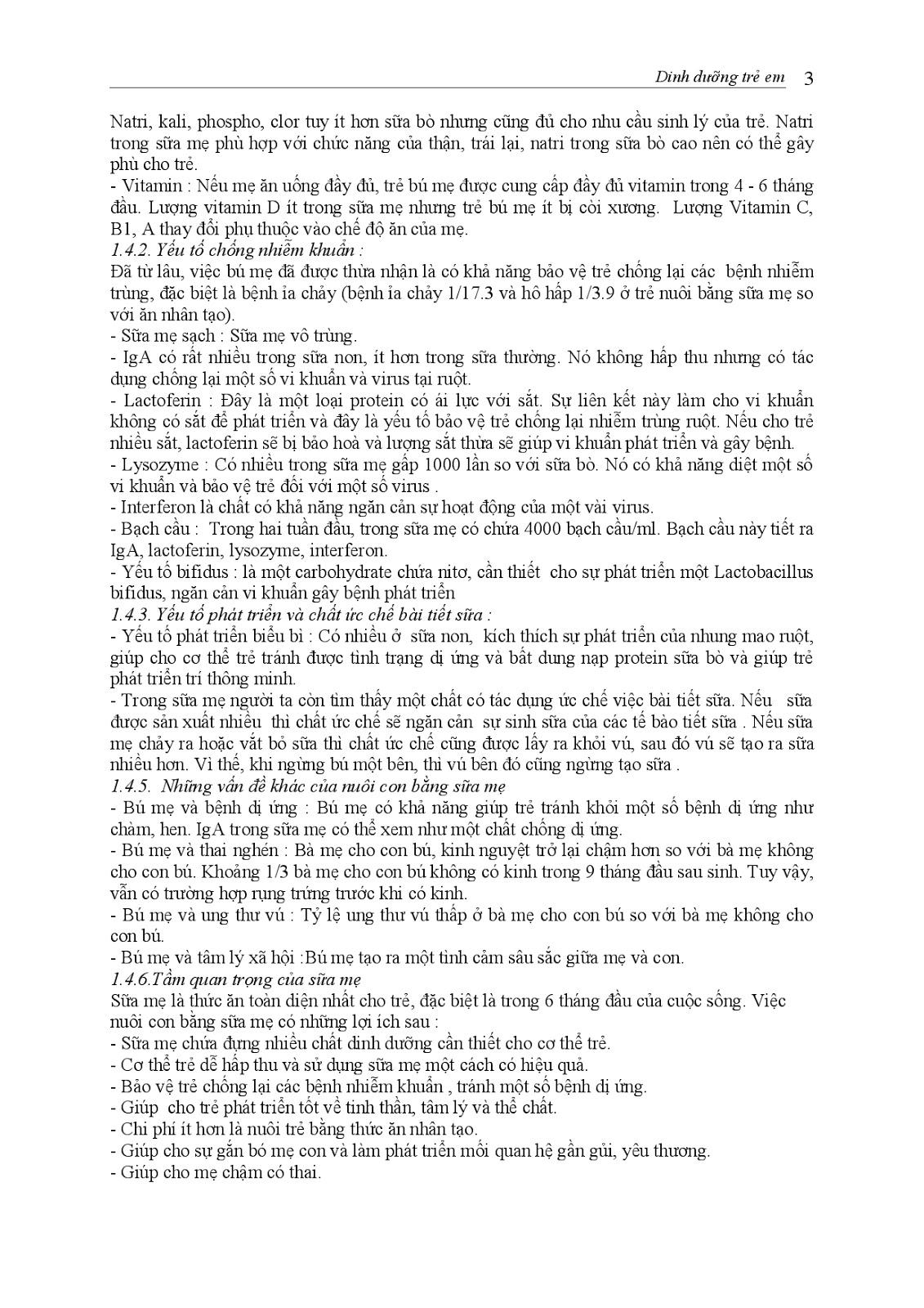 Trang 3 sach Bài giảng Nhi khoa I (Nhi khoa cơ sở - Nhi dinh dưỡng) - ĐH Y Huế
