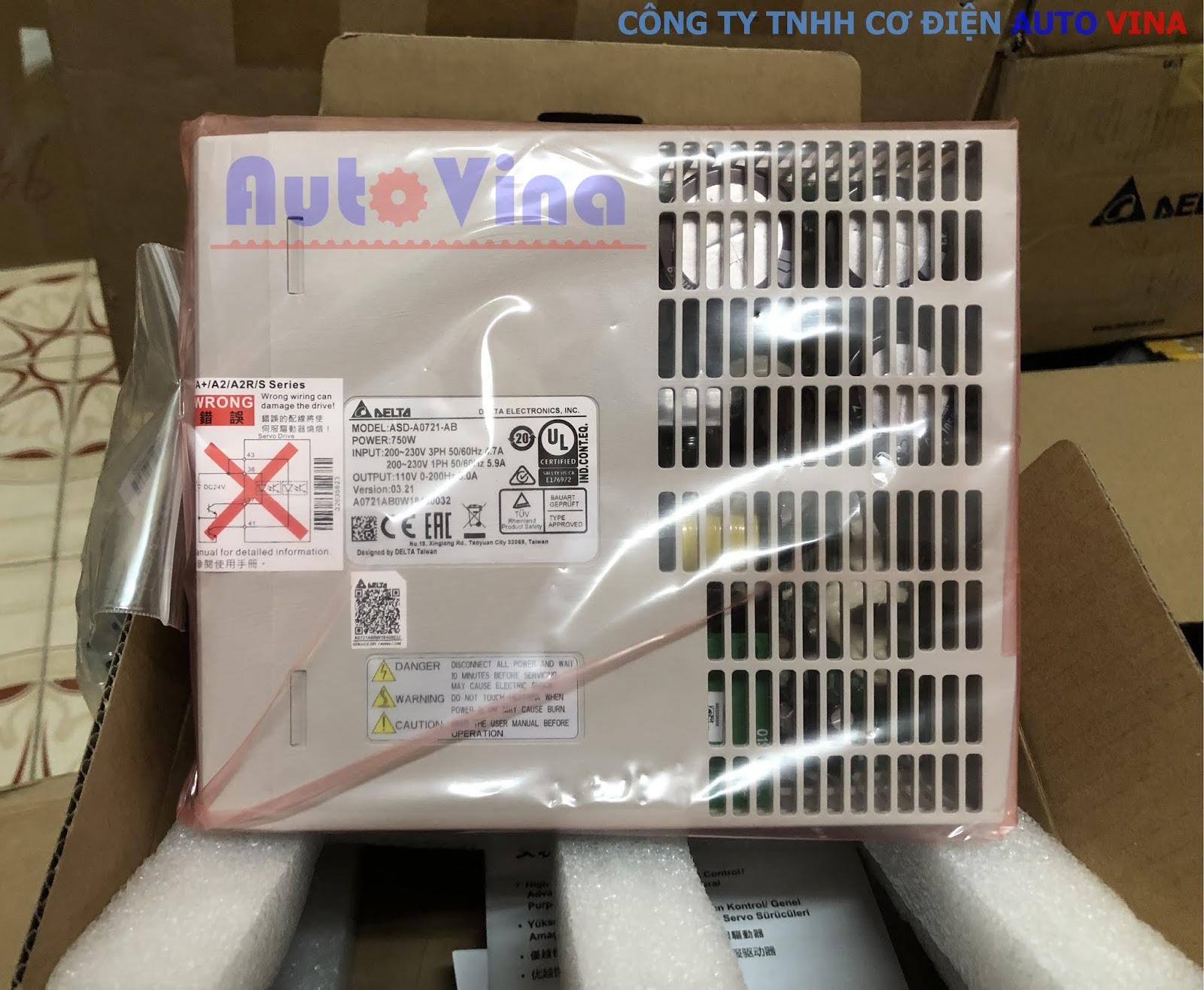 Đại lý bán bộ điều khiển AC Servo Drive ASD-A0721-AB hãng Delta tại Việt Nam