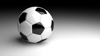 شكل كرة قدم مع خلفية رمادية اللون