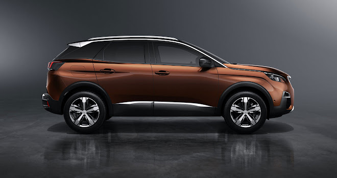 New Peugeot 3008 side view