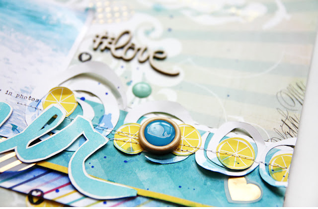 sea scrapbooking layout