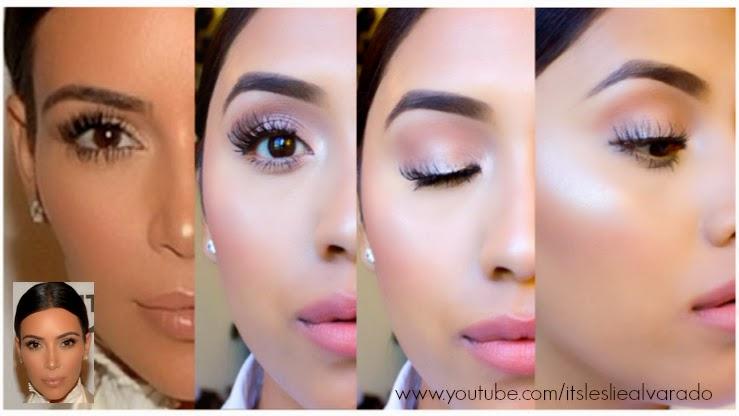 Kim Kardashian Dewy Makeup Tutorial | Glowy Skin – Leslie
