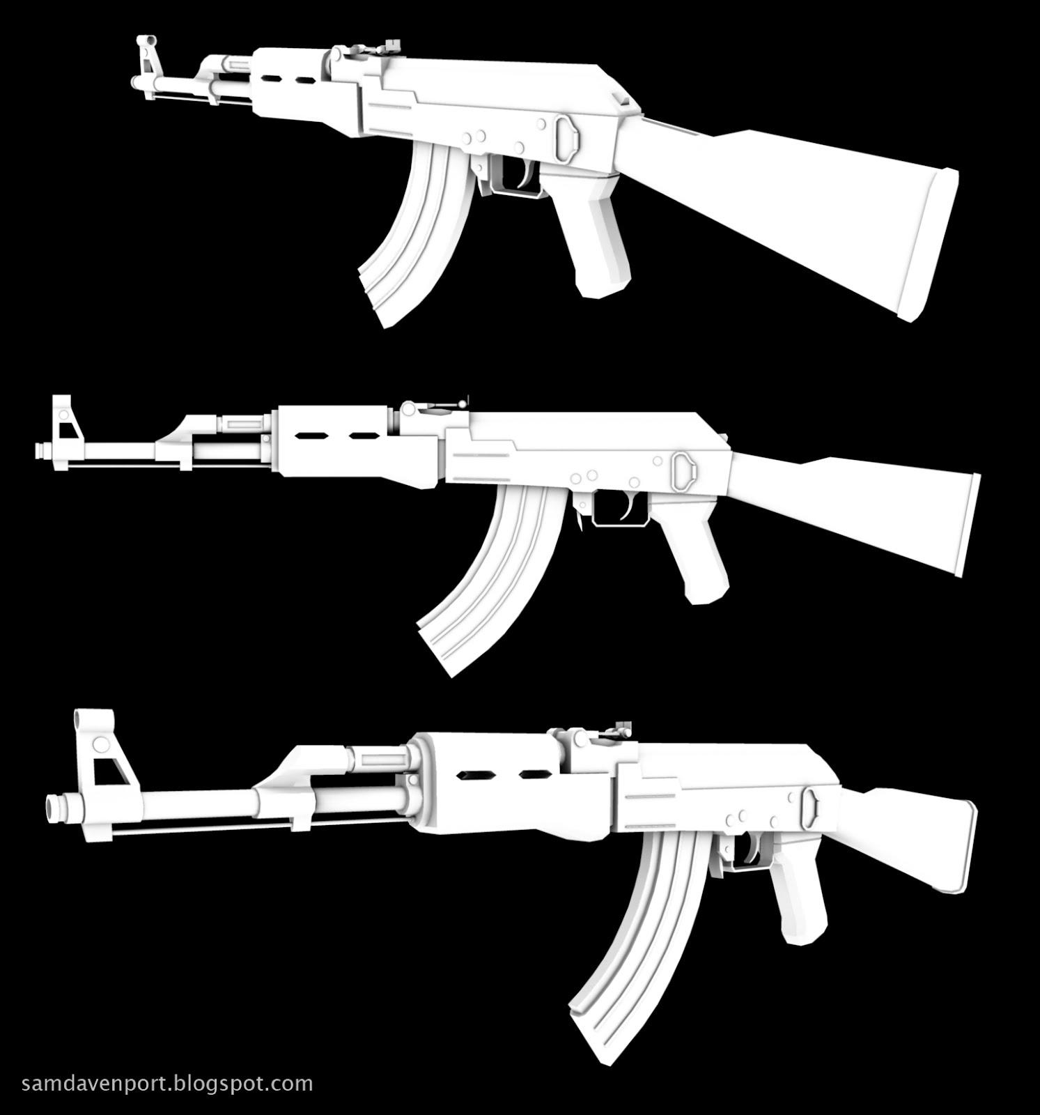 AK-47 complete | 3D Pad