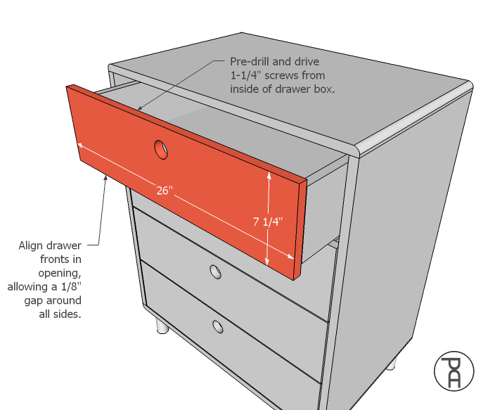 Attaching Drawer Fronts To Drawer Boxes