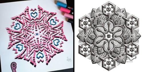00-3D-Geometric-Drawings-Worm-www-designstack-co