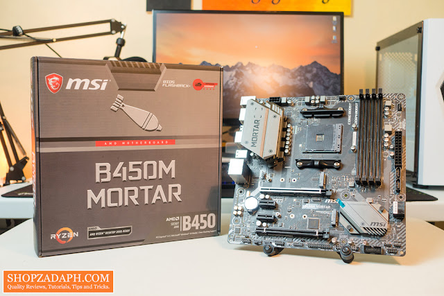 msi b450m mortar unboxing and review