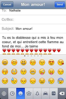 message damour mignon
