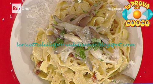 Tagliatelle su crema di nocciole e pomodorini secchi ricetta Bottega da Prova del Cuoco