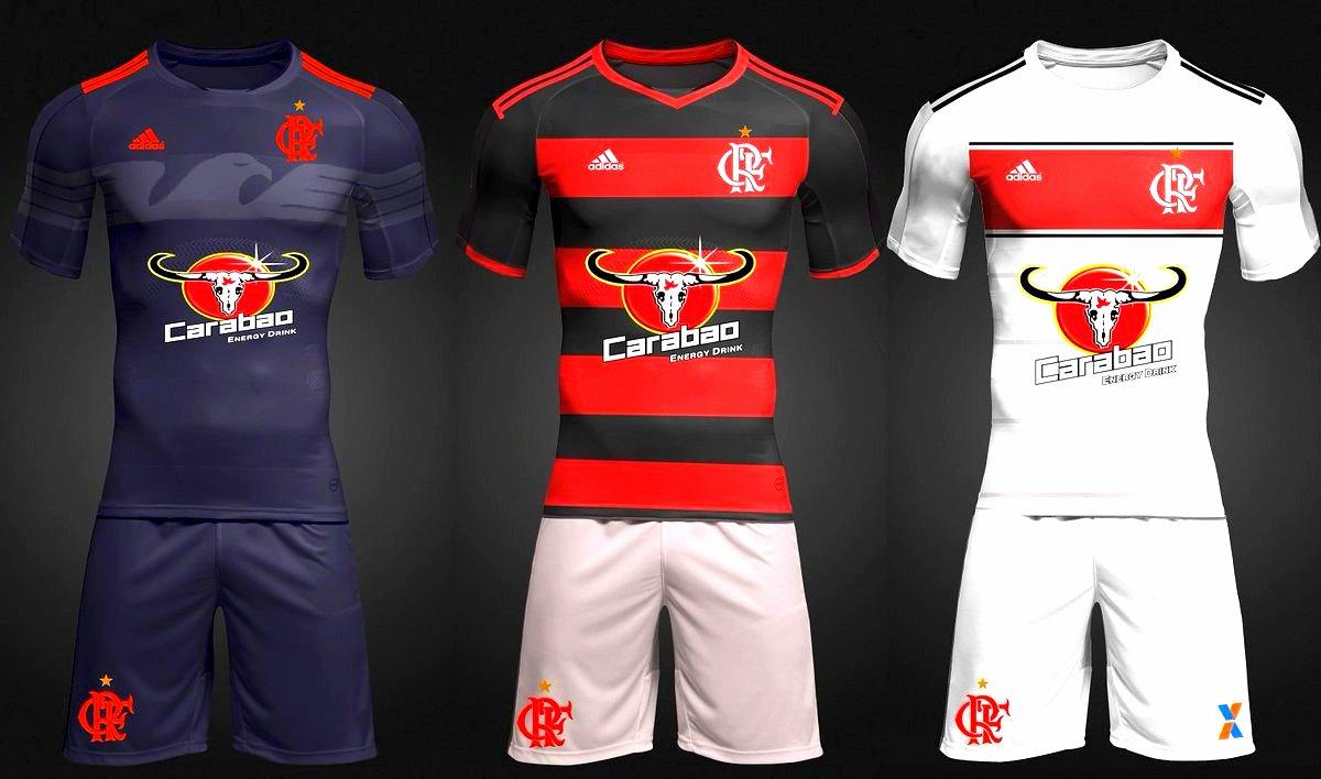 Projeto de uniforme do Flamengo com patrocínio da Carabao feito por  torcedor – Arte   Mulambeto f702efaa21b46