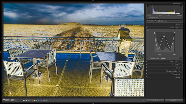 Solarización de una foto en color