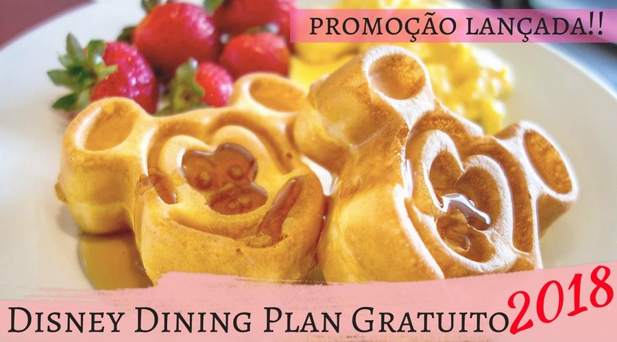 Promoção do Plano de refeições Disney Dining Plan liberada!!