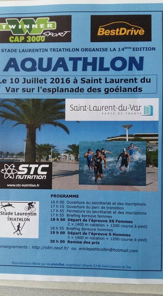 Stade laurentin triathlon aquathlon de saint laurent du for Piscine de saint laurent du var