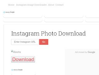 untuk mendownload foto dari instagram