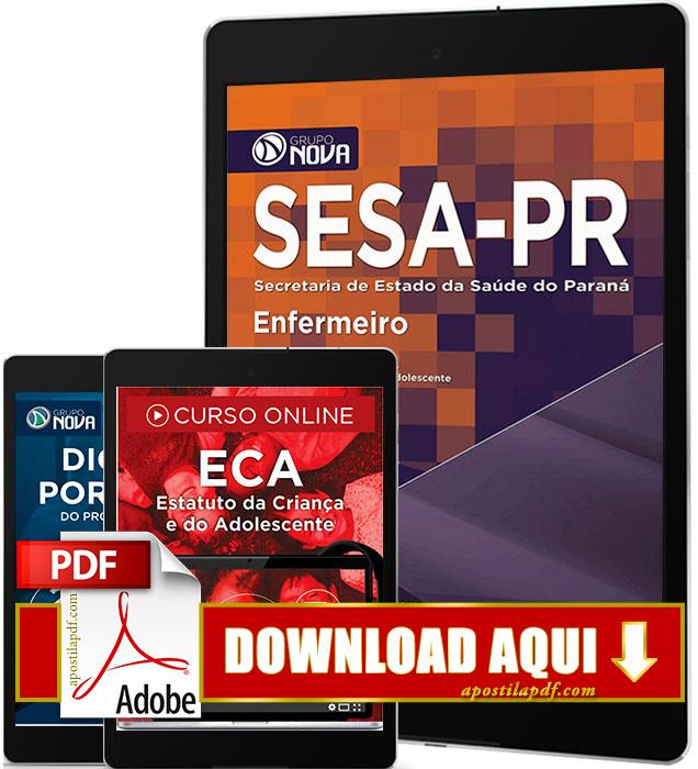 Apostila SESA PR 2016 PDF Download Enfermeiro