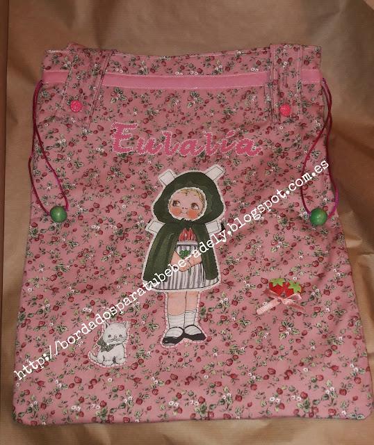 bolsa de ropa guarderia personalizado patchwork