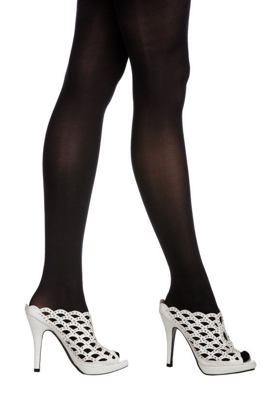 d00344b88 Wearing tights with open toe shoes - Fashionmylegs   The tights and ...