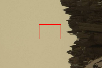 ufo on mars hovering