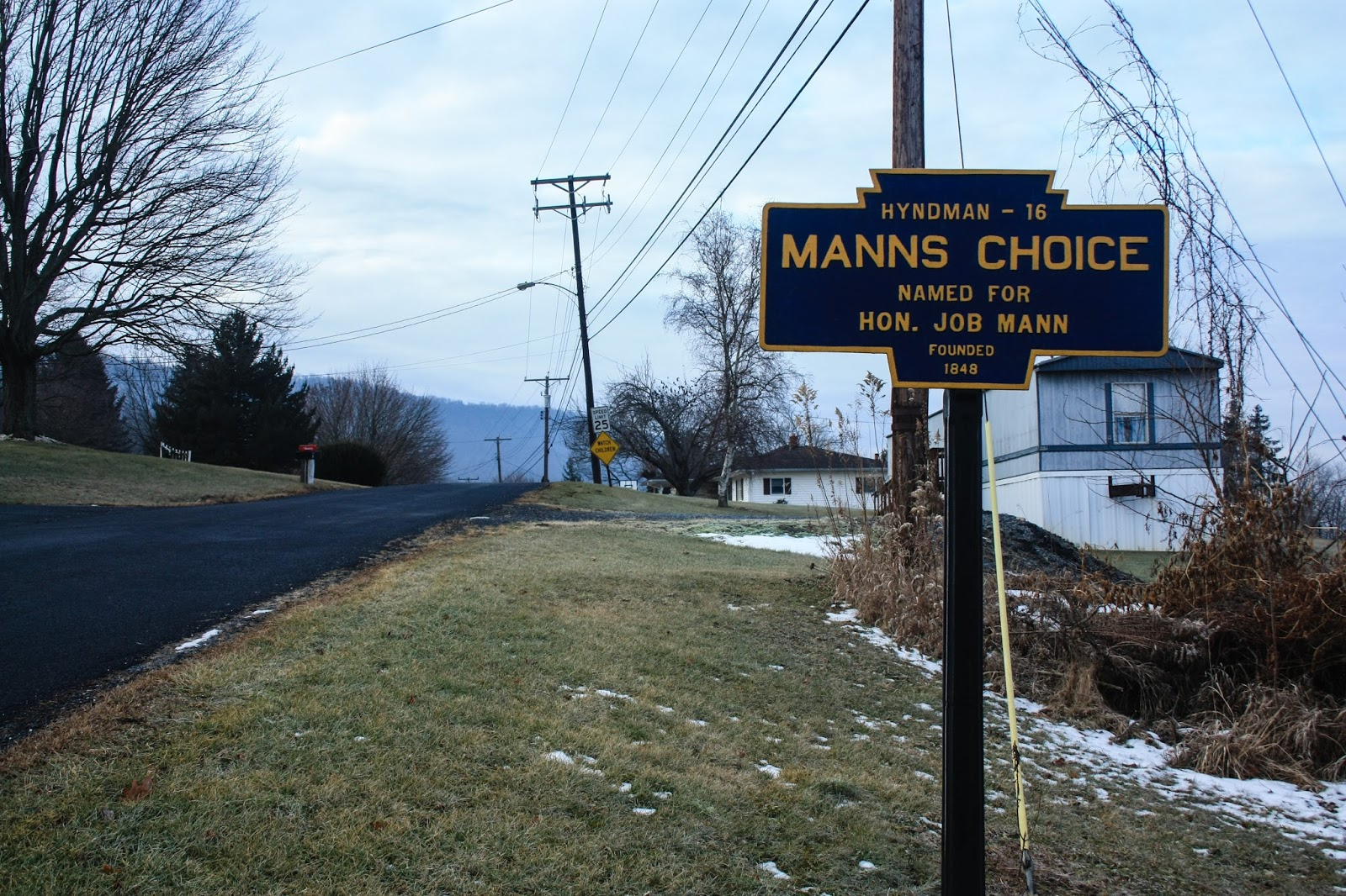 this bedford county town is named after job mann who served as a united states congressman from 1835 1837 and 1847 1851 in 1848 mann lobbied for the