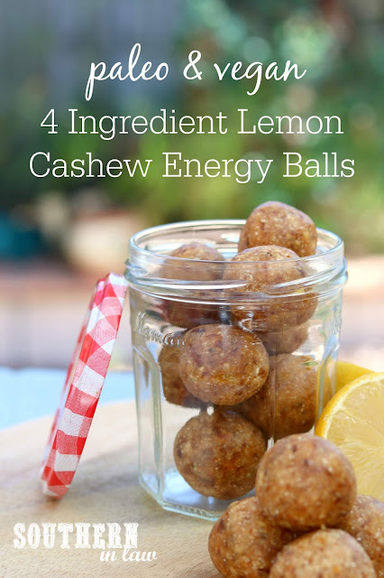 Raw Vegan Lemon Cashew Energy Balls Recipe - paleo bliss balls, energy bites, protein balls, healthy, gluten free, grain free, sugar free