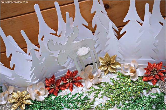 Decoración de Navidad con la Lámpara de Ikea y el Portavelas de Reno Finlandés