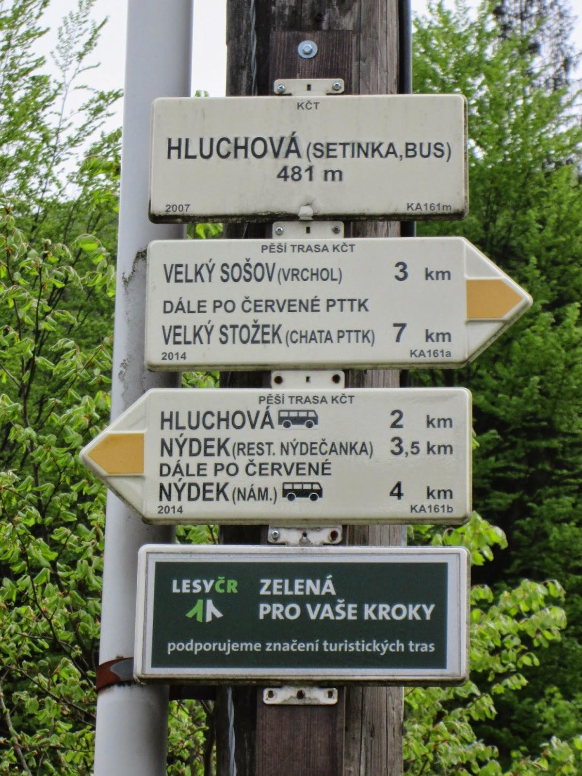 Szlak turystyczny – Głuchowa Setinka – Wielki Soszów