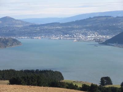 Vistas de Dunedin desde el Castillo Larnach. Península de Otago, en Nueva Zelanda