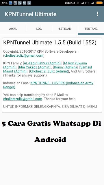 5 Cara Gratis Whatsapp Di Android Tanpa Kuota 2018