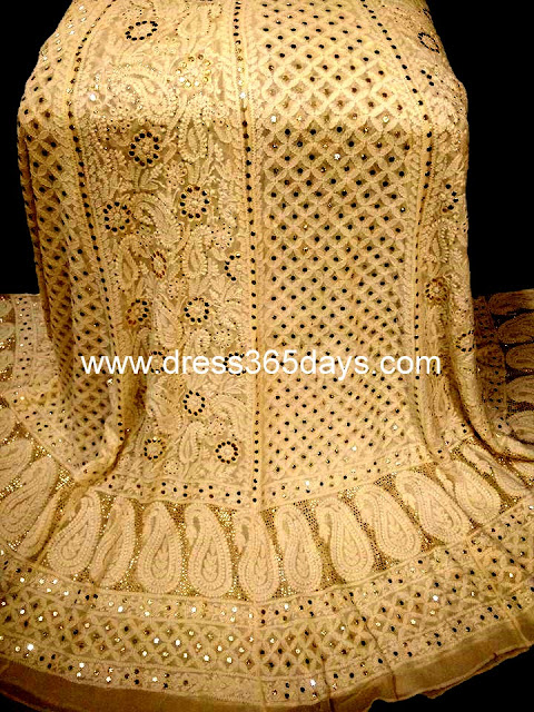 Bridal Chikankari Lehenga from Dress365days