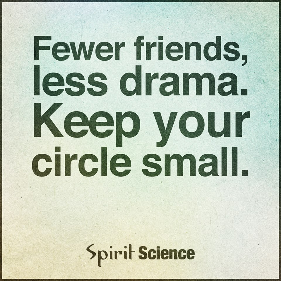 Fewer Friends Less Drama Keep Your Circle Small Spirit Science