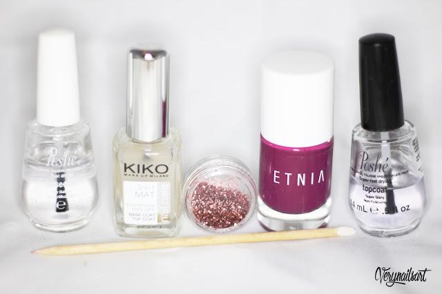 diseño de uñas mate material