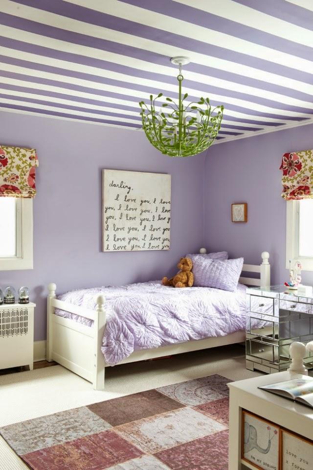 dormitorio niña color lila