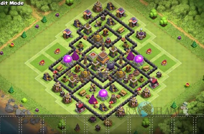 Base Farming TH 8 Clash Of Clans Terbaru 2017 tipe 14