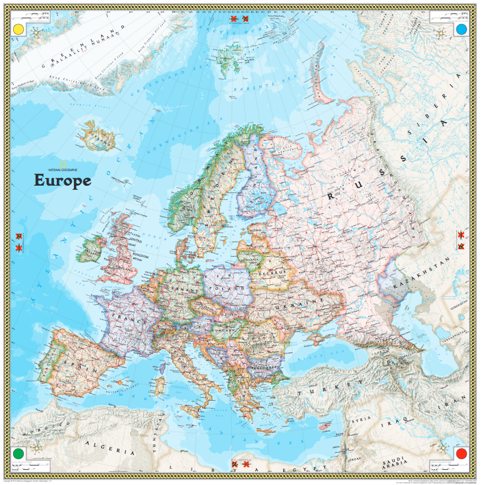 National Geographic Giant Traveling Map Of Europe