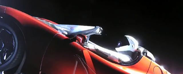 photo of Starman in a Tesla