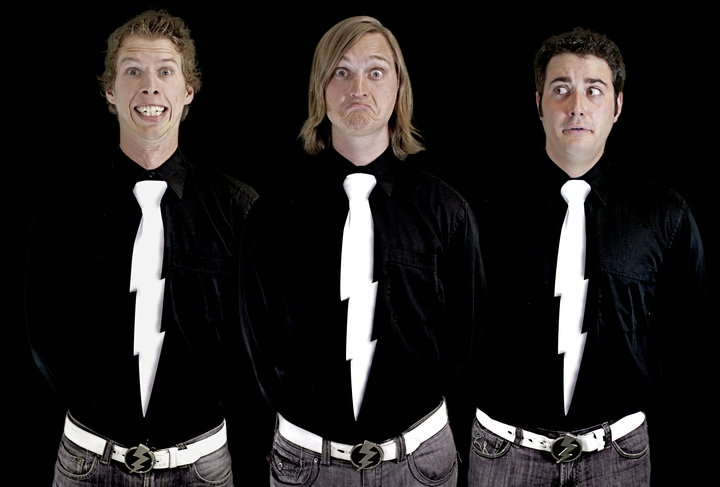 This Is A Photo Of The Boys From While Back Steve Dreamed Up These Lightning Bolt Neckties And Designed Photoped Them Into Picture