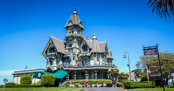 Carson mansion with the incredibly magnificent architecture and splendor