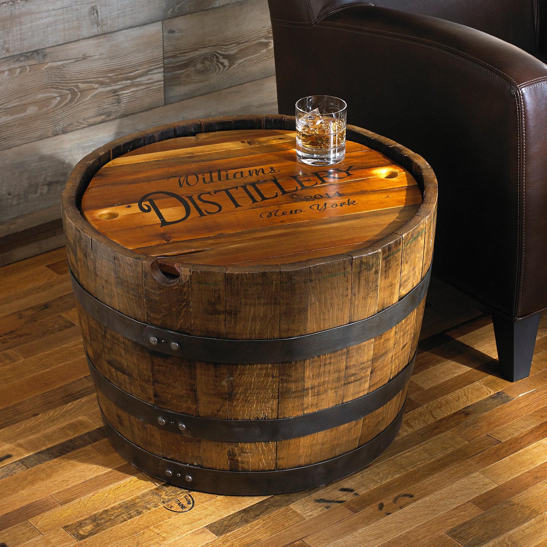 Demi Tonneau En Bois homme à tout faire: Ébénisterie - table à café avec baril de vin