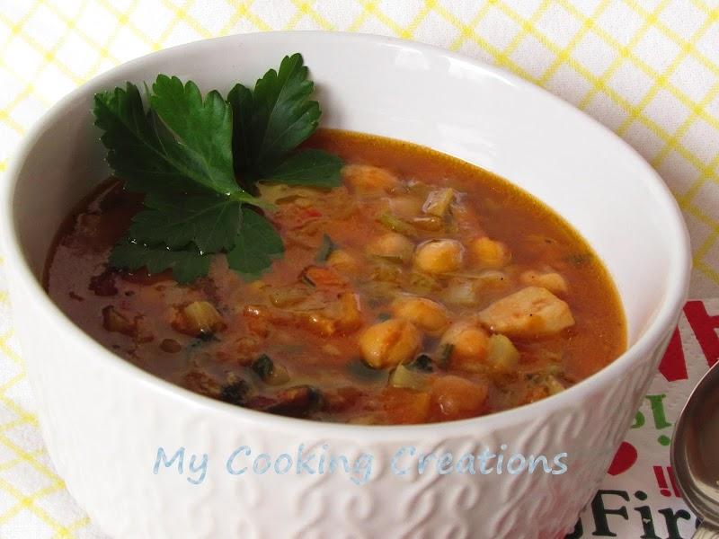 Супа с нахут и манатарки * Zuppa di ceci e porcini