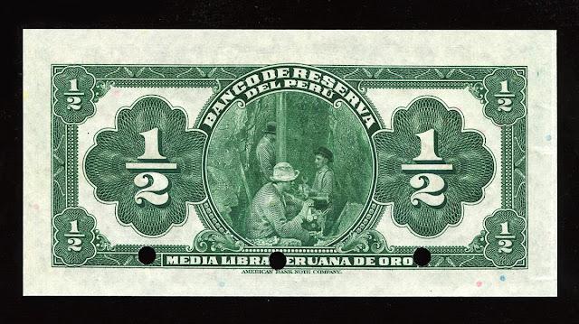 Peru Libra Peruana banknote billete