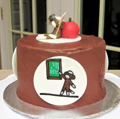 Sock Monkey Teacher Appreciation Cake 2