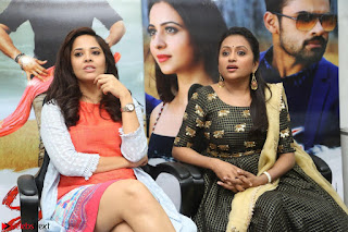 Actress Suma in Black Salwar Suit and Anusuya in orange Dress at winner movie press meet part 2 February 2017 (23).JPG