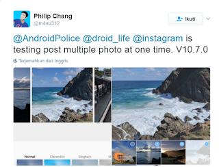 Instagram Uji Coba Fitur Unggah Banyak Foto Sekaligus