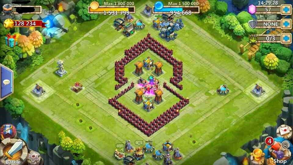 Farmville - Burning Desire's Farm: Castle Clash Base Design